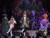 "Chip Zien, Gregg Edelman and Brooks Ashmanskas in a scene from the New York City Opera's revival of ""Candide"" (Photo credit: Sarah Shatz)"