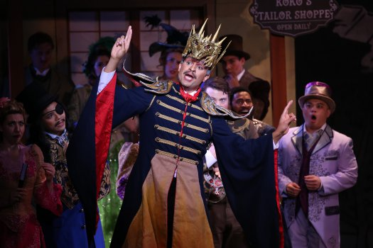 "Chris White as  the Emperor of Japan in a scene from New York Gilbert & Sullivan Players' new production of ""The Mikado"" (Photo credit: Carol Rosegg)"