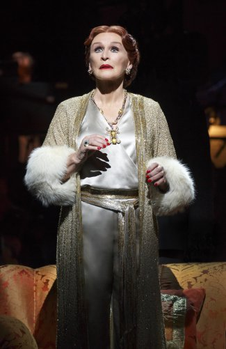 """Glenn Close as Norma Desmond in a scene from the revival of """"Sunset Boulevard"""" (Photo credit: Joan Marcus)"""