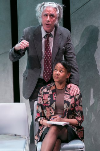 "Jeff McCarthy and Nambi E. Kelley in a scene from Jeffrey Sweet's ""Kunstler"" (Photo credit: Heidi Bohnenkamp)"