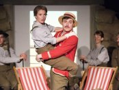 """Caitlin Thorburn and Tom Machell (center) in a scene from """"Life According to Saki"""" (Photo credit: Monica Simoes)"""