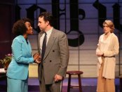 """JoAnna Rhinehart, John Patrick Hayden and Kate Loprest in a scene from """"The Big Broadcast on East 53RD"""" (Photo credit: Carol Rosegg)"""
