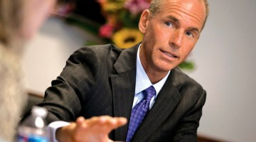 BOEING DEFENSE, SPACE AND SECURITY CEO DENNIS MUILENBURG IS PICTURED AT THE REUTERS AEROSPACE AND DEFENSE SUMMIT IN WASHINGTON