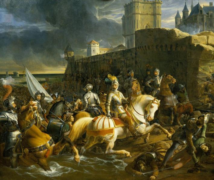 La prise de Calais par les Français. Peintre : François-Édouard Picot, 1838.