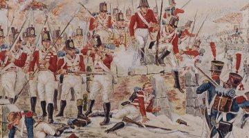 26e (Cameronian) Regiment à la bataille de la Corogne (1809).