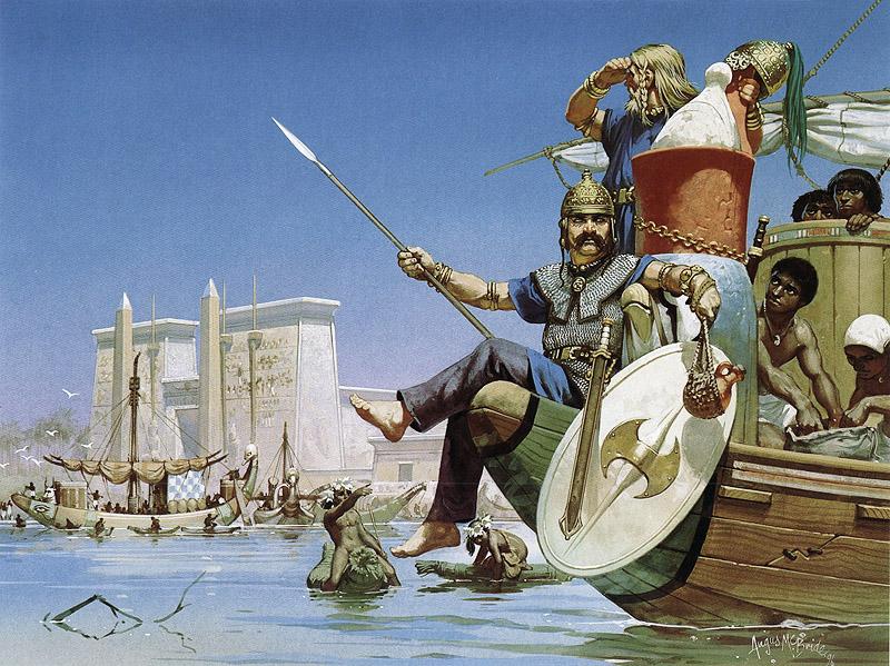 Mercenaires celtes en Egypte (3e siècle avant J.-C.). Illustration d'Angus McBride.