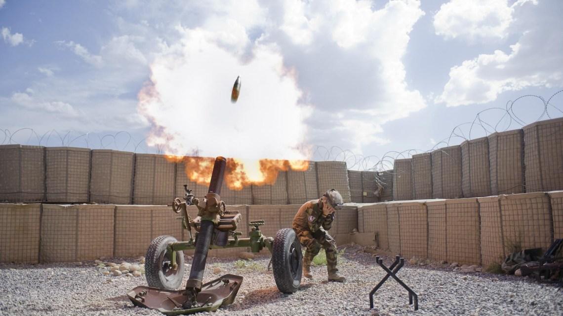 Mortier 120 en Afghanistan