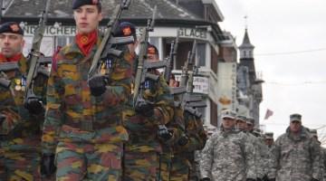 Soldats belges et américains