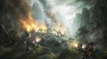 Insurgés espagnols attaquant un convoi militaire français.
