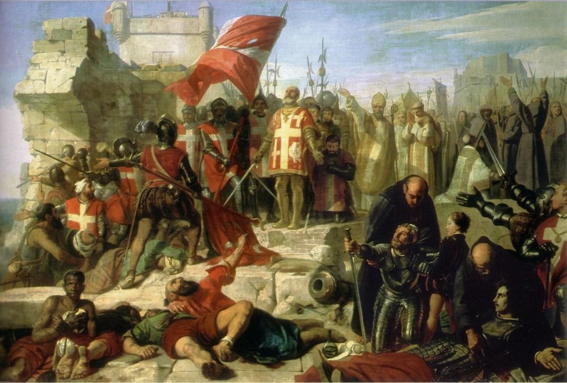 Levée du siège de Malte assiégé par le général ottoman Mustapha en septembre 1565. Don Garcia de Tolède, vice-roi de Sicile, mène l'opération. Charles Philippe Larivière - RMN Château de Versailles
