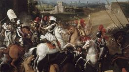 Henri IV à la bataille d'Arques.