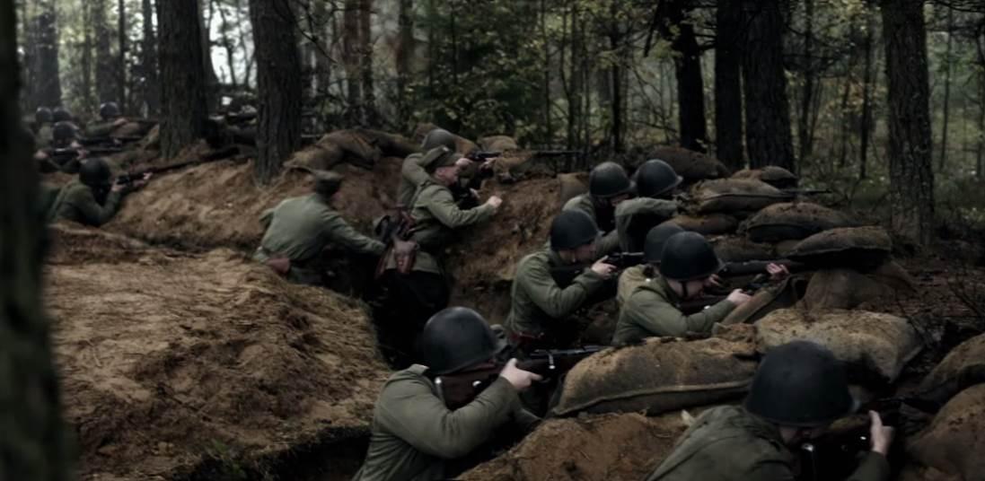 """Campagne de Pologne 1939. Image tirée du film lituano-polonais """"Tajemnica Westerplatte"""" (2014)."""