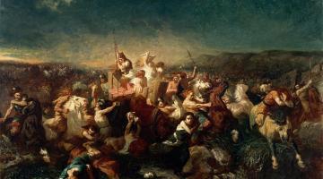 Evariste Vital Luminais : Déroute des Germains après la bataille de Tolbiac