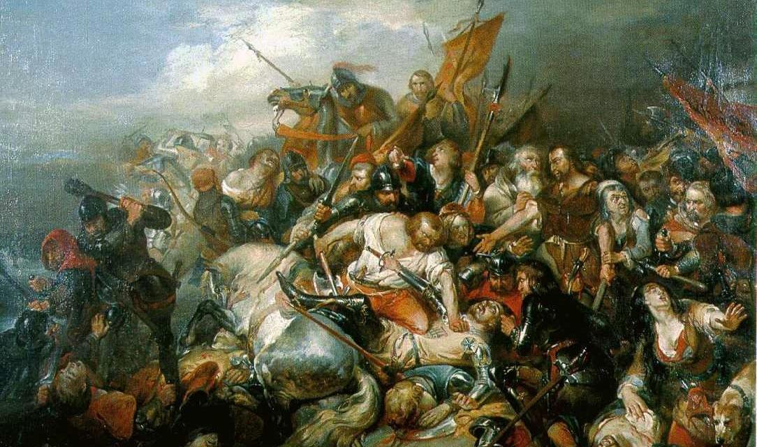 Bataille des éperons d'or par Nicaise De Keyser (1813-1887).