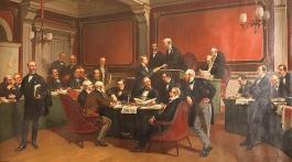 Signature de la 1ère convention de Genève (1864).
