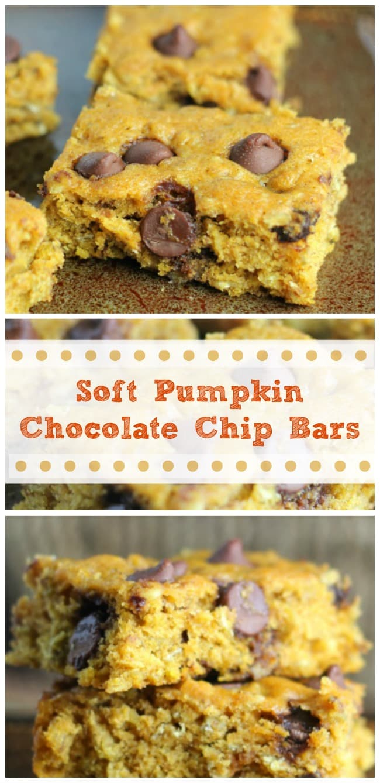 Soft Pumpkin Chocolate Chip Bars – The Baking ChocolaTess