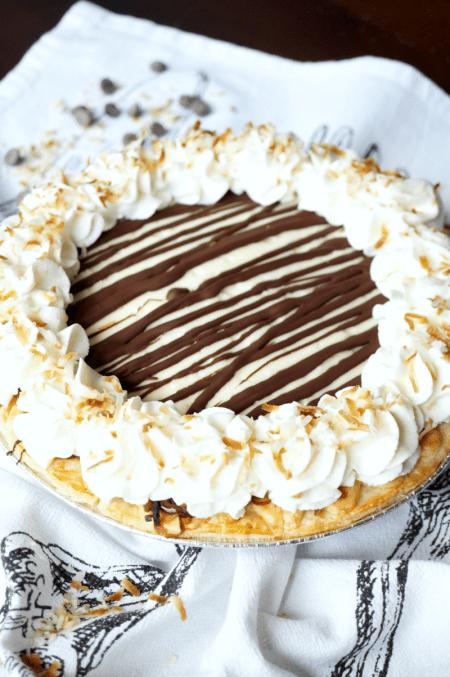 chocolate coconut cream pie | The Baking Fairy