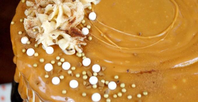 pumpkin spice latte layer cake