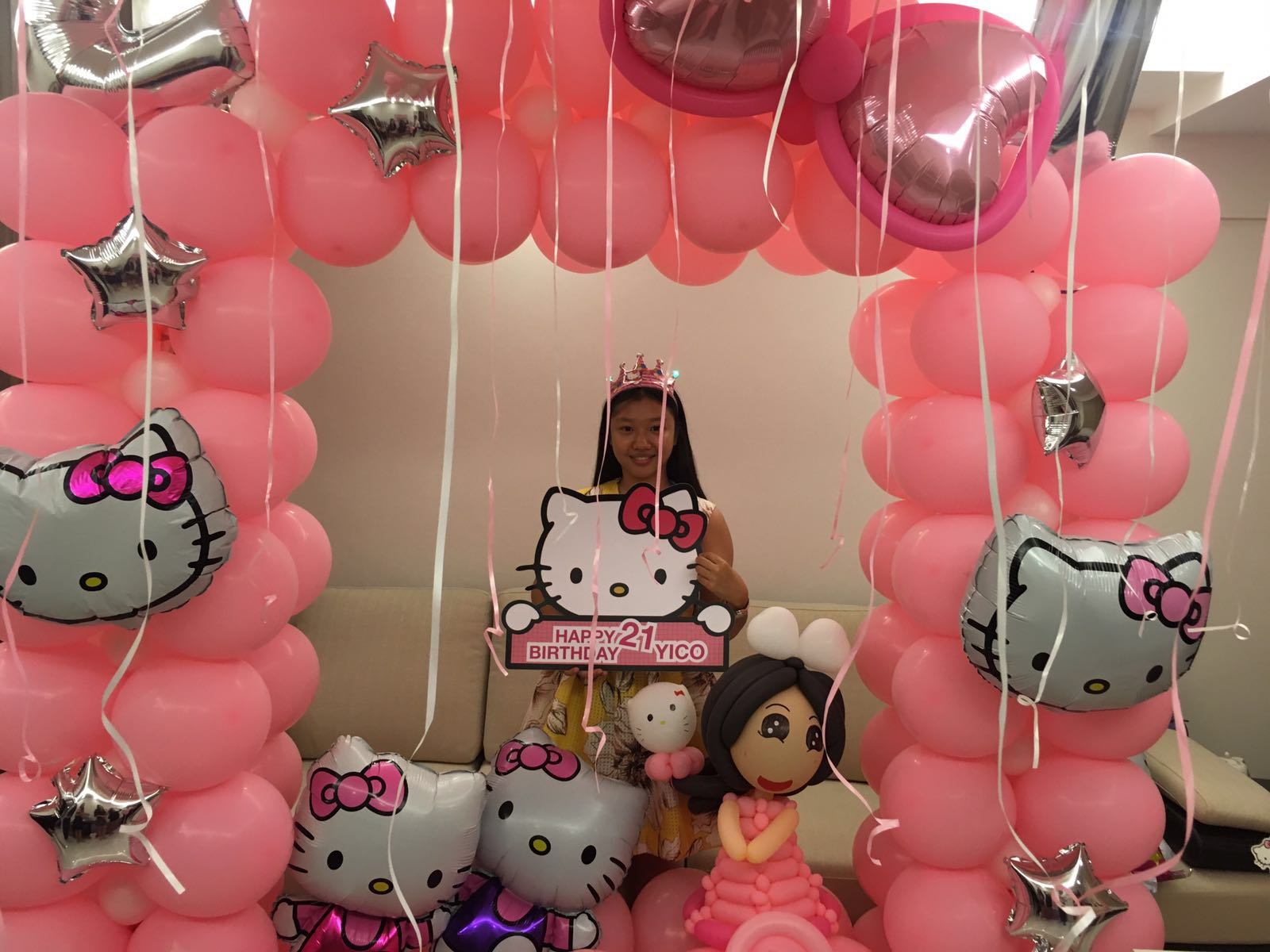 Hello Kitty Balloon Centerpiece Ideas : St birthday balloon decoration ideas image inspiration