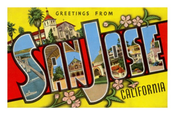 some old San Jose postcard found on Google