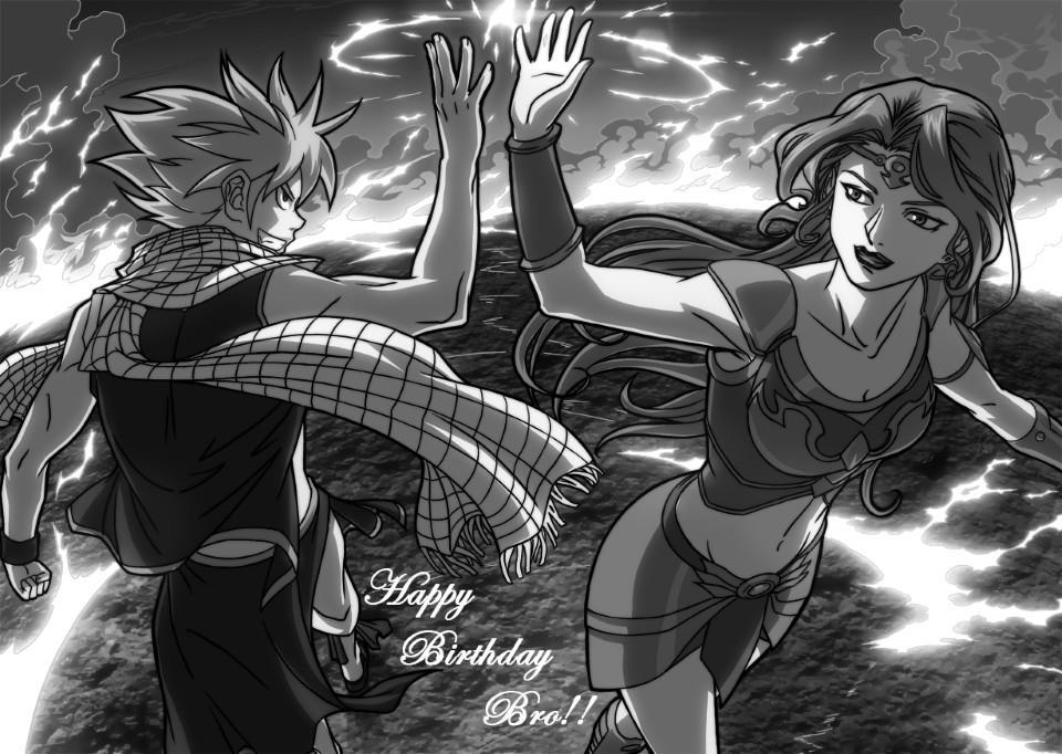 Birthday Fan art Week: Fyre & Natsu by Xong Bros