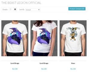 Beast Legion tees