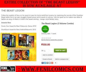Beast Legion available at Fenil Comics