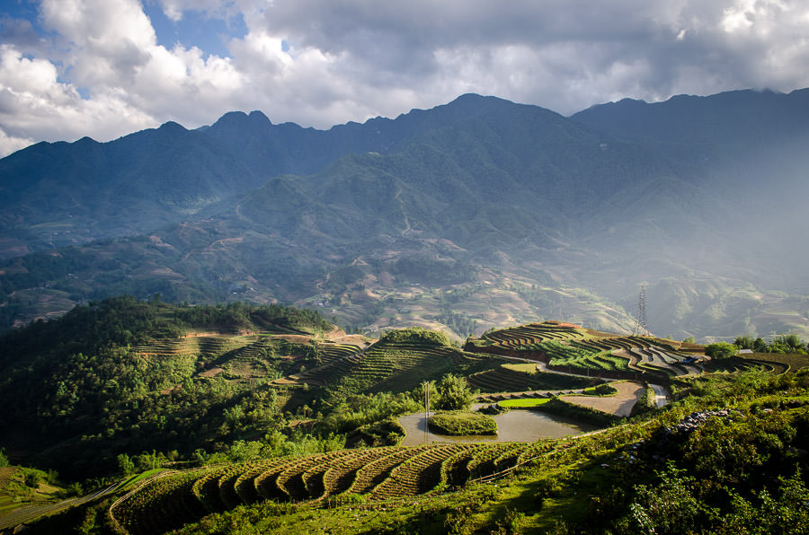 A stunning view over the valley just outside of Sapa, Vietnam.