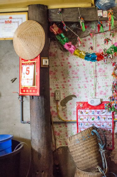 The inside of a homestay in Ta Van Village, Vietnam.