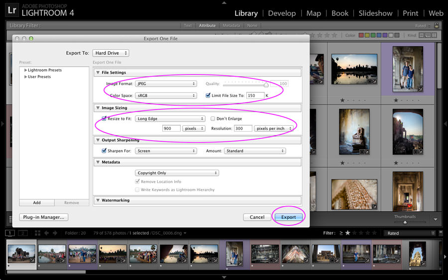 Photo Management 101: Export