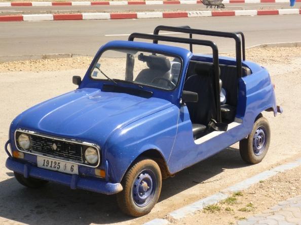 Esa blue car