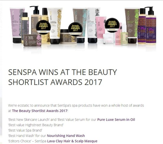AWARDS Senspa