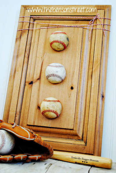 Decorate with Baseballs at www.thebensonstreet.com