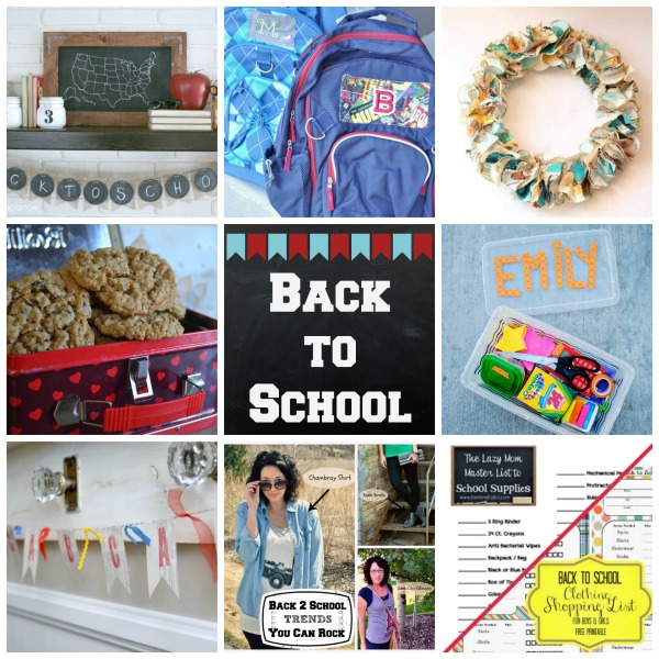 Back To School Blog Hop Collage