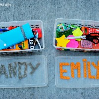 Portable Homework Station {Back to School Blog Hop}