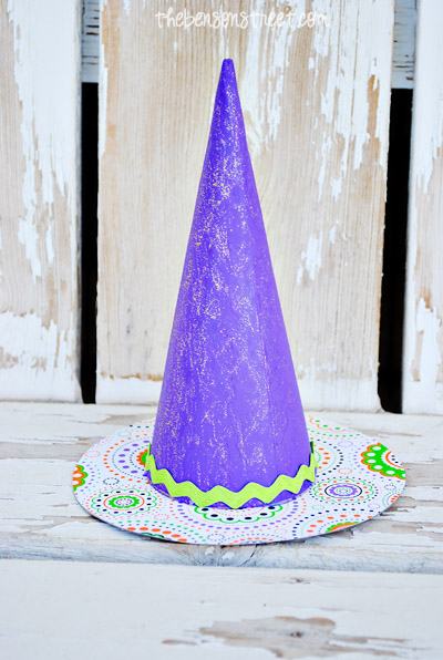 Purple Witch Hat at thebensonstreet.com