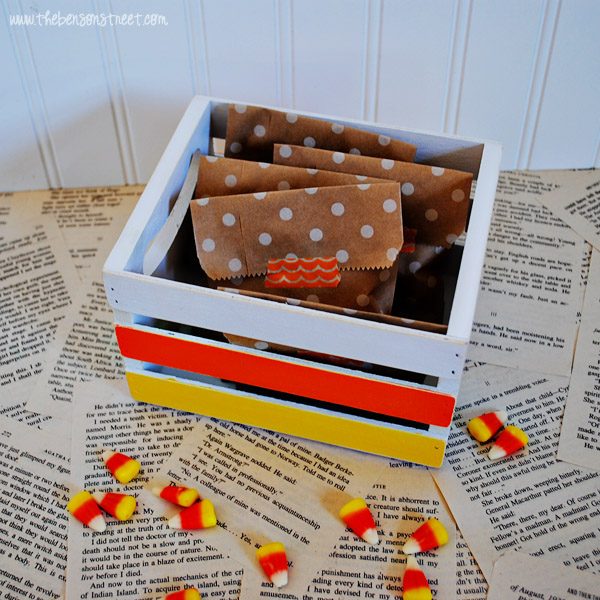Candy Corn Crate at thebensonstreet.com