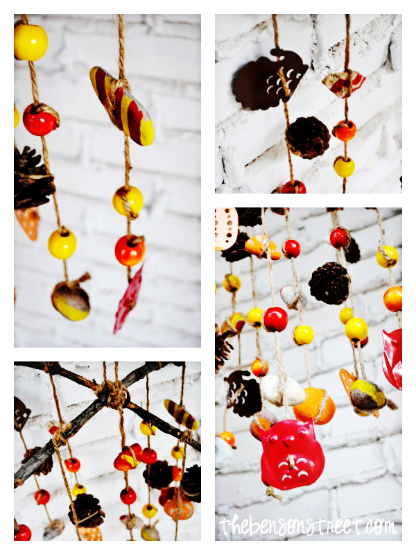 Fall Wind Chimes Kids can make at thebensonstreet.com
