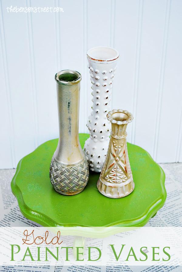 Gold & Vintage Vases at thebensonstreet.com copy