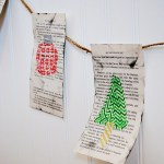 Washi Tape Book Page Banner