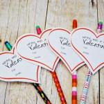 Printable Pencil Valentine