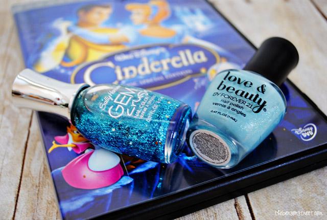 heart nail polish cinderella