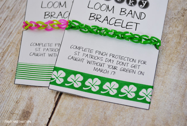 Pinch Protection St Patricks Day Loom Bands at thebensonstreet.com