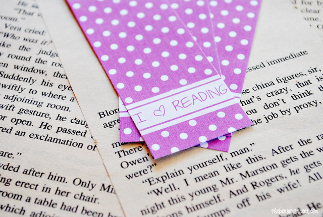 Radiant Orchid Bookmark Printable at thebensonstreet.com