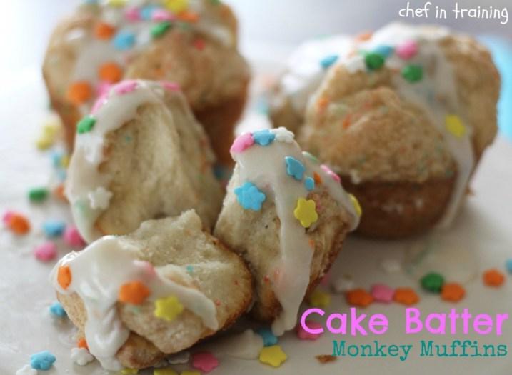 cake batter monkey muffins