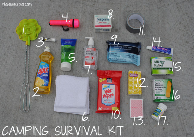 Camping Survival Kit and Tips at thebensonstreet.com