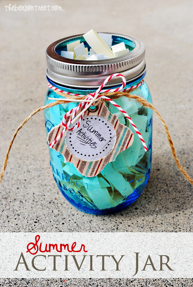 Summer Activity Jar for Kids at thebensontreet.com