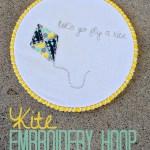 Kite Embroidery Hoop Art