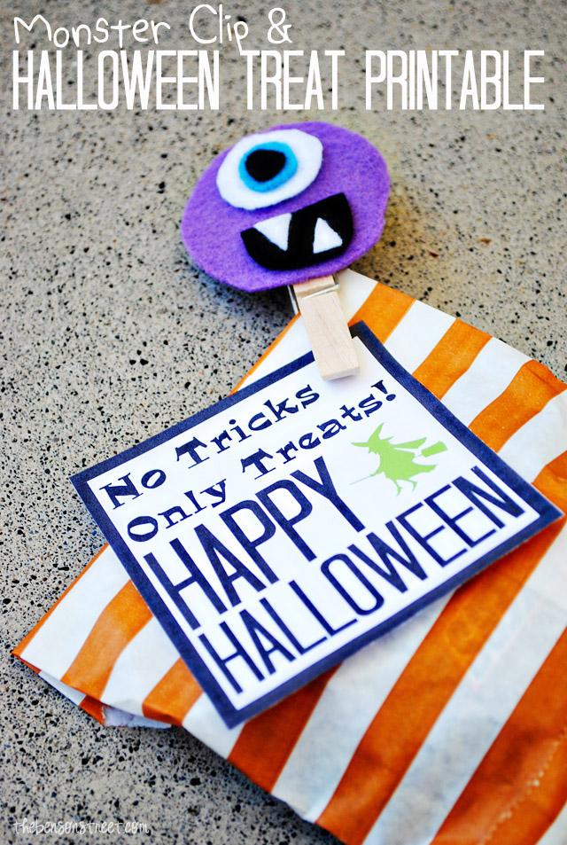 Halloween Party Favor Idea and printable copy