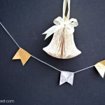 Cute Silver and Gold Christmas Themed Duct Tape Banner at thebensonstreet.com